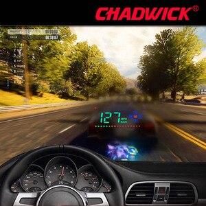 Image 1 - HUD Digital GPS velocímetro Head Up pantalla Auto parabrisas proyector electrónica coche velocidad proyector CHADWICK A2 Accesorios