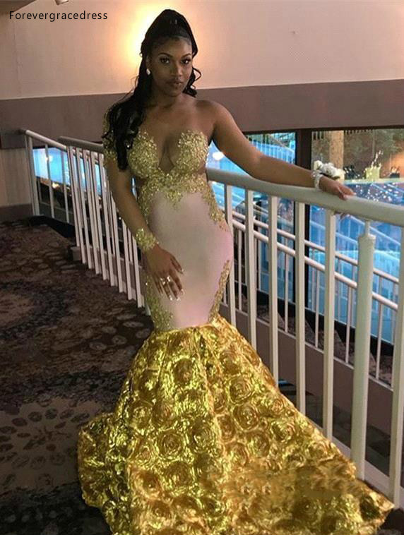 South African Black Girls Prom Dresses 2019 One Shoulder Appliques Pageant Holidays Graduation Wear Formal Evening Party Gowns