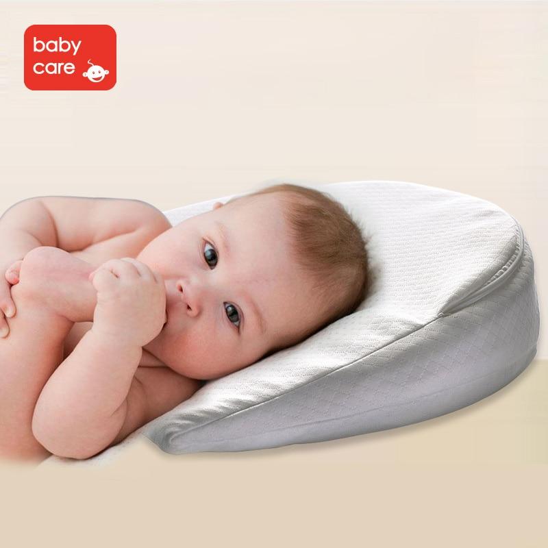 Babycare Baby Memory Foam Wedge Pillow Infant Reflux Reducer Anti Spit Milk Crib Sleep Positioner Nursing bed Pillow cushion pad