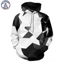 Geometric 3D Men Sweatshirt Tracksuit Patchwork Hoodie Plaid Male Sweatshirts Hip Hop Pullover Hoody Casual Mens