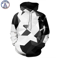 Geometric 3D Men Sweatshirt Tracksuit Patchwork Hoodie Plaid Male Sweatshirts Hip Hop Pullover Hoody Casual Mens