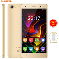 3G Original OUKITEL C5 Mobile Phone 2GB 16GB 5 0 Inch Android 7 0 MTK6580 Quad