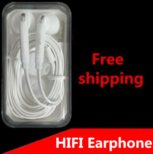 with Mic supper bass Earphone in-Ear type Earphones For Xiaomi SAMSUNG GALAXY S3 S4 Note3 Note 2 S7 N7100 mp3