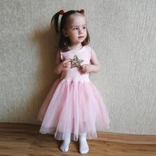 Fashion Sequin Kids Dress Summer European Baby Girl Party Wedding White Black Sleeveless Princess Costume 2 3 4 5 6 Years