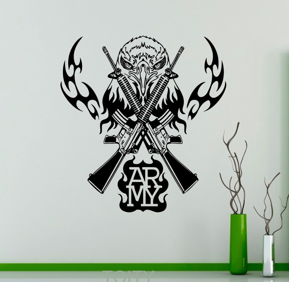 Military Bedroom Decor Aliexpresscom Buy Army Emblems Wall Vinyl Sticker Military