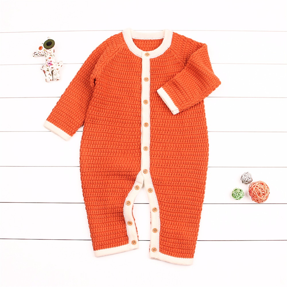 e1b052dc8dde Aliexpress.com   Buy Newborn Baby Girls Rompers Winter Warm Toddler Boys  Overalls Autumn Solid Infant Bebe Jumpsuits One Piece Children Playsuit 0  2T from ...