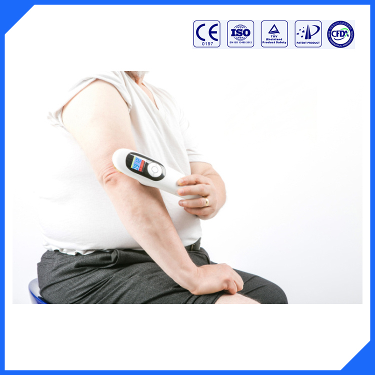 CE/ROHS/ 808nm diode laser and 650nm diode laser therapeutic back pain relief products pain relief cold laser therapeutic instrument 650nm diode laser laser physical therapy equipment