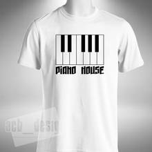 Piano Casa T-Shirt Tastiera Pianista Organo Rave Old Skool Musica Retro Casa di estate o collo tee, trasporto libero a buon mercato tee(China)