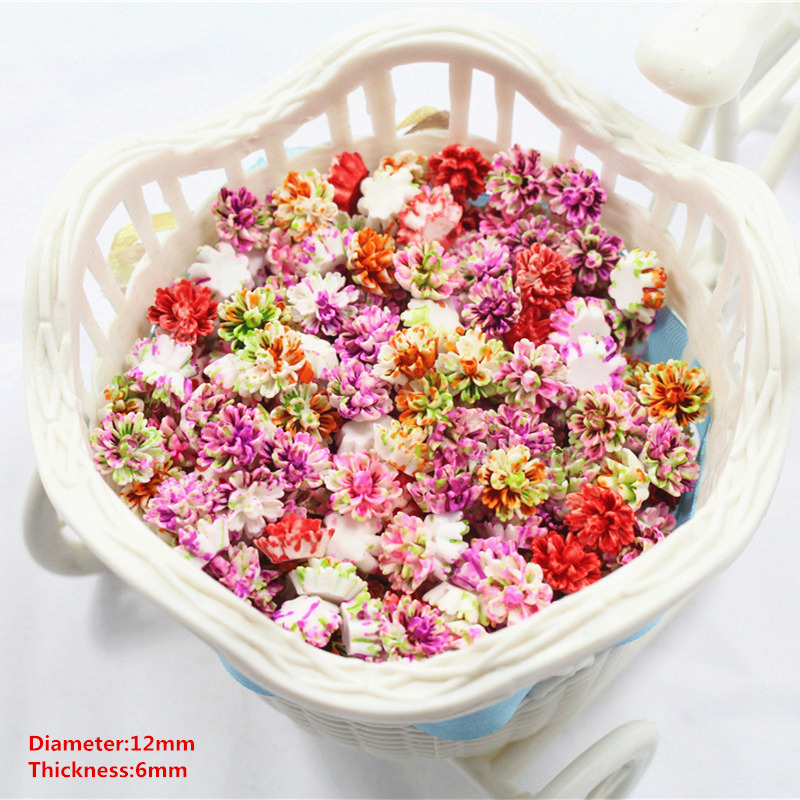 Free shipping 50pcs 12mm fashion pink flowers Flat back resin buttons, garment accessori ...