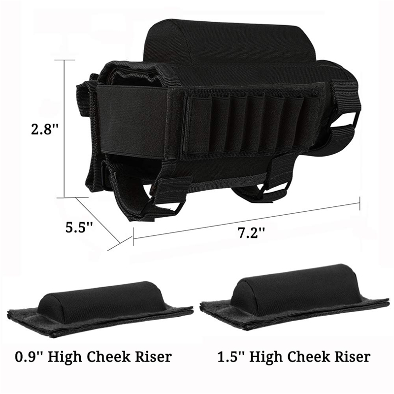 Tactical Buttstock Cheek Rest with Shell Holder for 7.62.308.300 Mag Rifle Shotgun Ammo Pouch Cartridges Hunting Gun Accessories 3