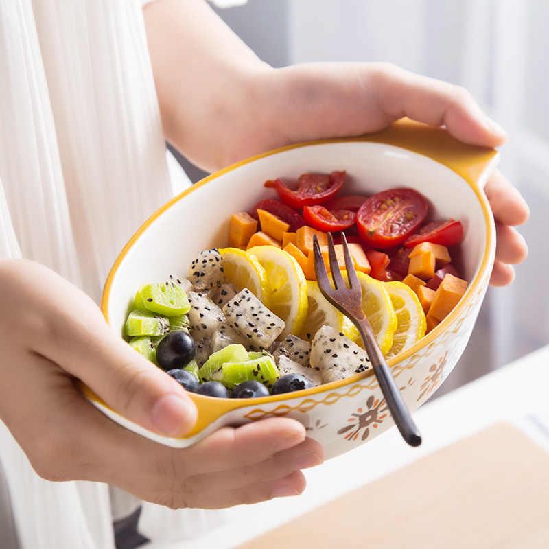 長方形セラミックグラタン皿オーバルチーズ焼きライスプレート西部プレートクリエイティブパスタ皿バイノーラルオーブンベーキングプレート