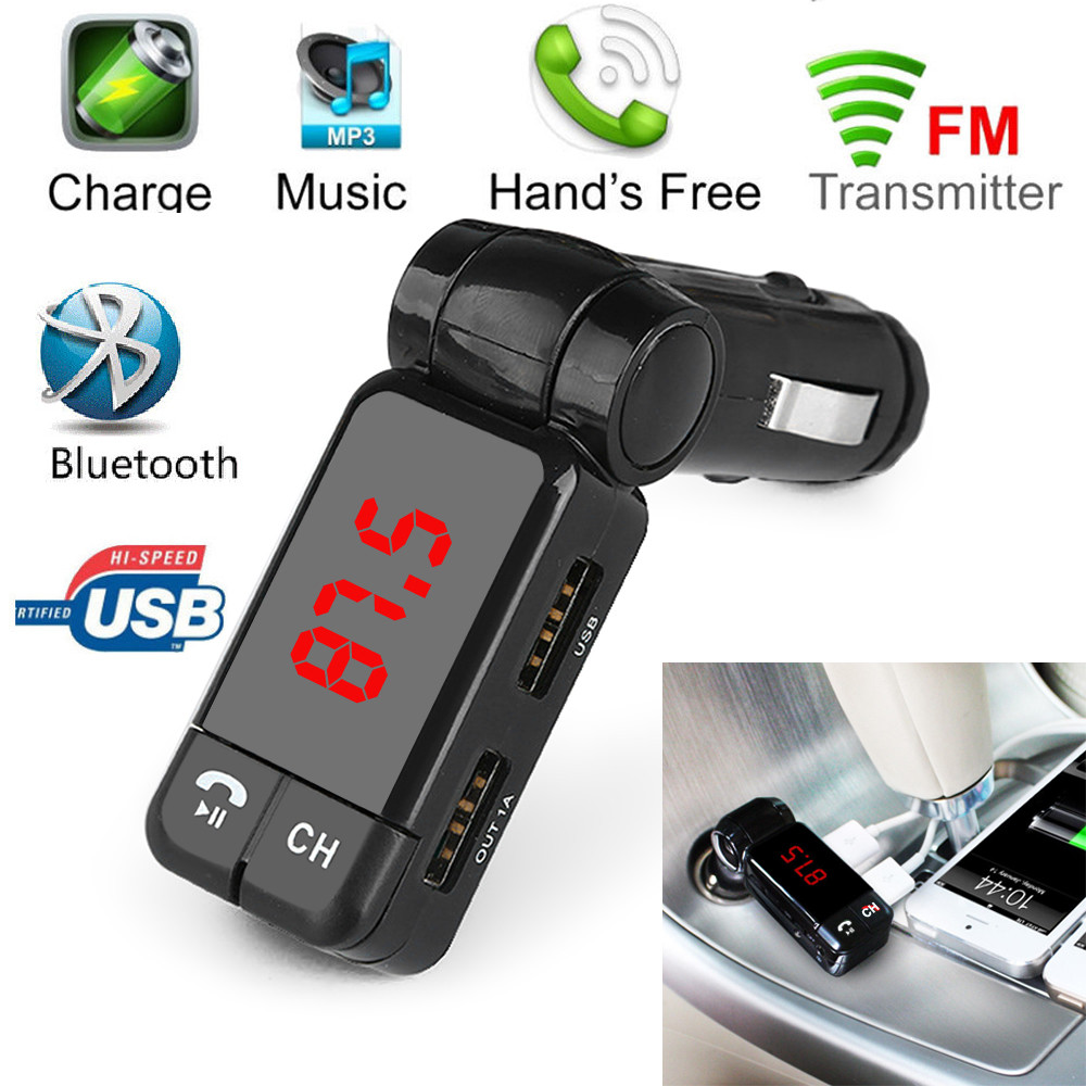 Phone Android Phone Radio Transmitter compare prices on wireless fm transmitter for android phone 1pc hot dual usb car kit charger bluetooth stereo mp3 player iphone