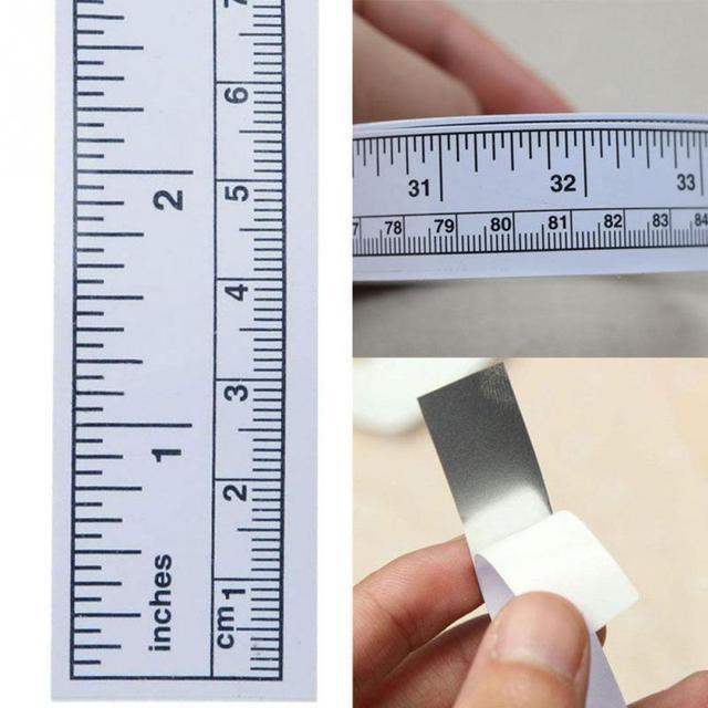 ויניל עצמי דבק שליטים מטרי למדוד קלטת תפירת מכונת מדבקת כלי שליט תפירת אביזרים