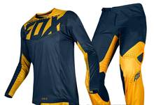 2019 NAUGHTY FOX MX Gear 180 Prizm Navy Yellow Dirt Bike Motocross Jersey(China)