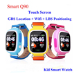 GPS Q90 Pantalla Táctil WIFI Niños de Posicionamiento Smartwatch Inteligente Muñeca reloj Localizador PK Q50 Q60 Q80 de Seguros para Niños Anti-Pérdida # b0