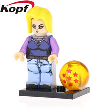 Single Sale Android 18 Model Tien Shinhan lazuli Kame Sennin Trunks Figures Goku Building Blocks For Children Gift Toys PG1374(China)