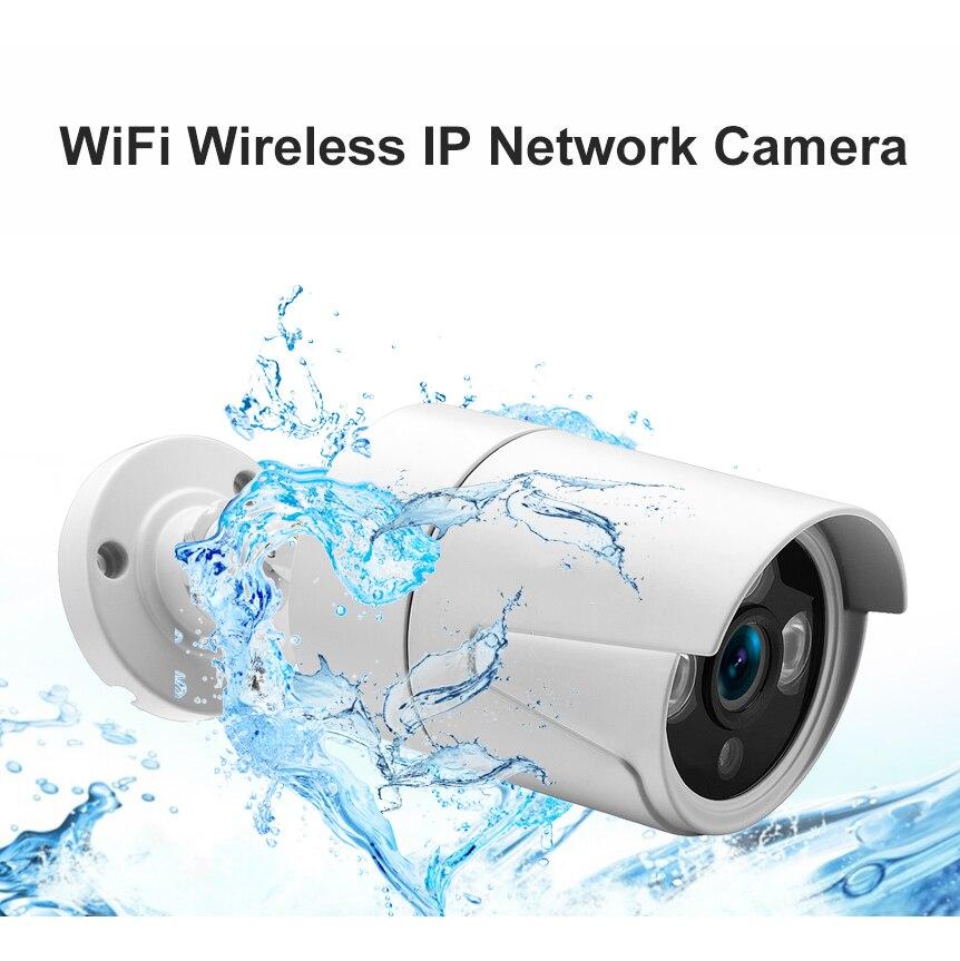 SmartYIBA caméra IP étanche à balle 720 P caméra de sécurité Wifi Full HD avec carte SD alerte Email APP Push ir-cut Vision nocturne