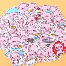 40 Uds. De pegatinas con diseño de cerdo, bonitas pegatinas decorativas, álbumes de fotos artesanales