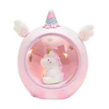 Cartoon Round Night Light LED Battery Night Light Child Baby Room Desktop Decoration Decoration Lamp Gift Small New
