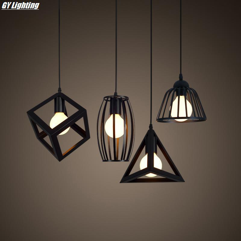 The retro loft pendant lights vintage lamp lustre light for bedroom lamp bar lamp restaurant simple industrial Iron luminaire new loft vintage iron pendant light industrial lighting glass guard design bar cafe restaurant cage pendant lamp hanging lights