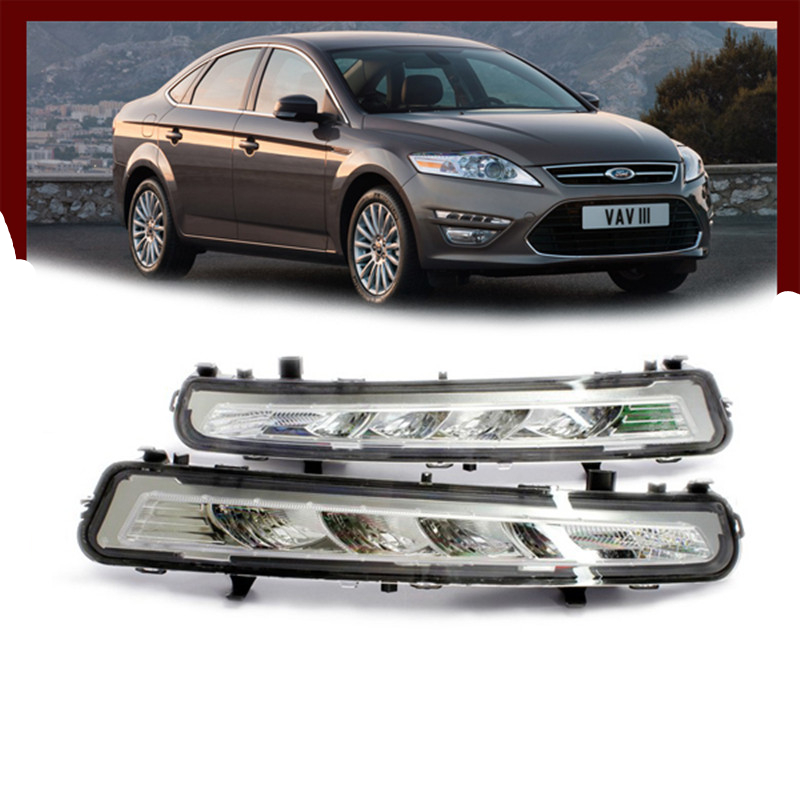 Tcart 2x LED DRL Driving Daytime Running For 2010~2013 for Ford MONDEO Day Fog Lamp Light free ship tcart drl headlights with turn signal lights for ford mondeo 2013 2016 daytime running light auto led day driving fog lamp