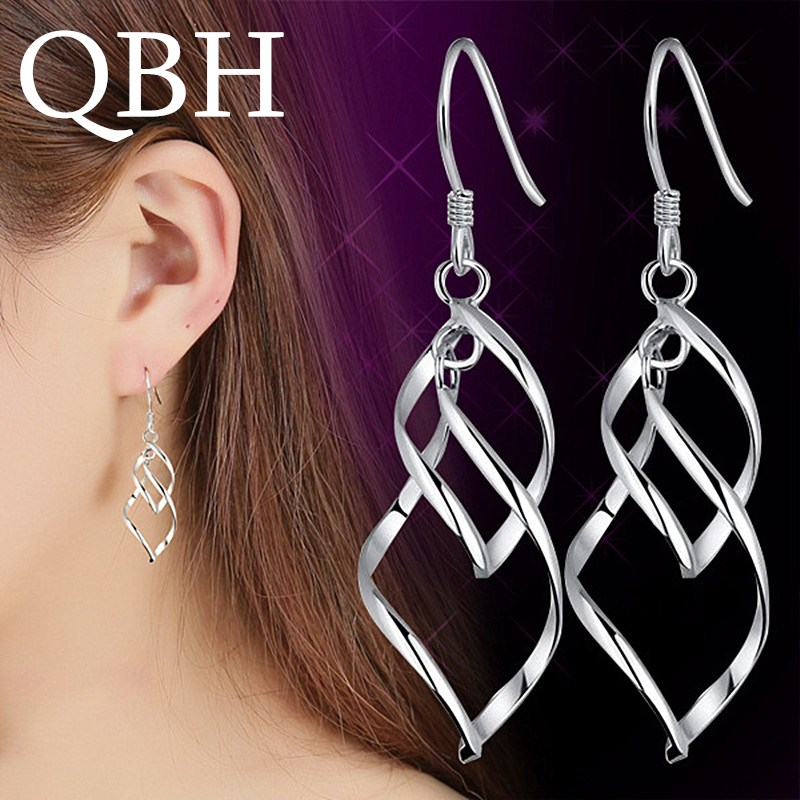 EK927 New Fashion Big Dangle Earrings For Women Jewelry Long Drop Brincos Bijoux Mujer Boucle Twist Ear Jewelry Gift Pendientes