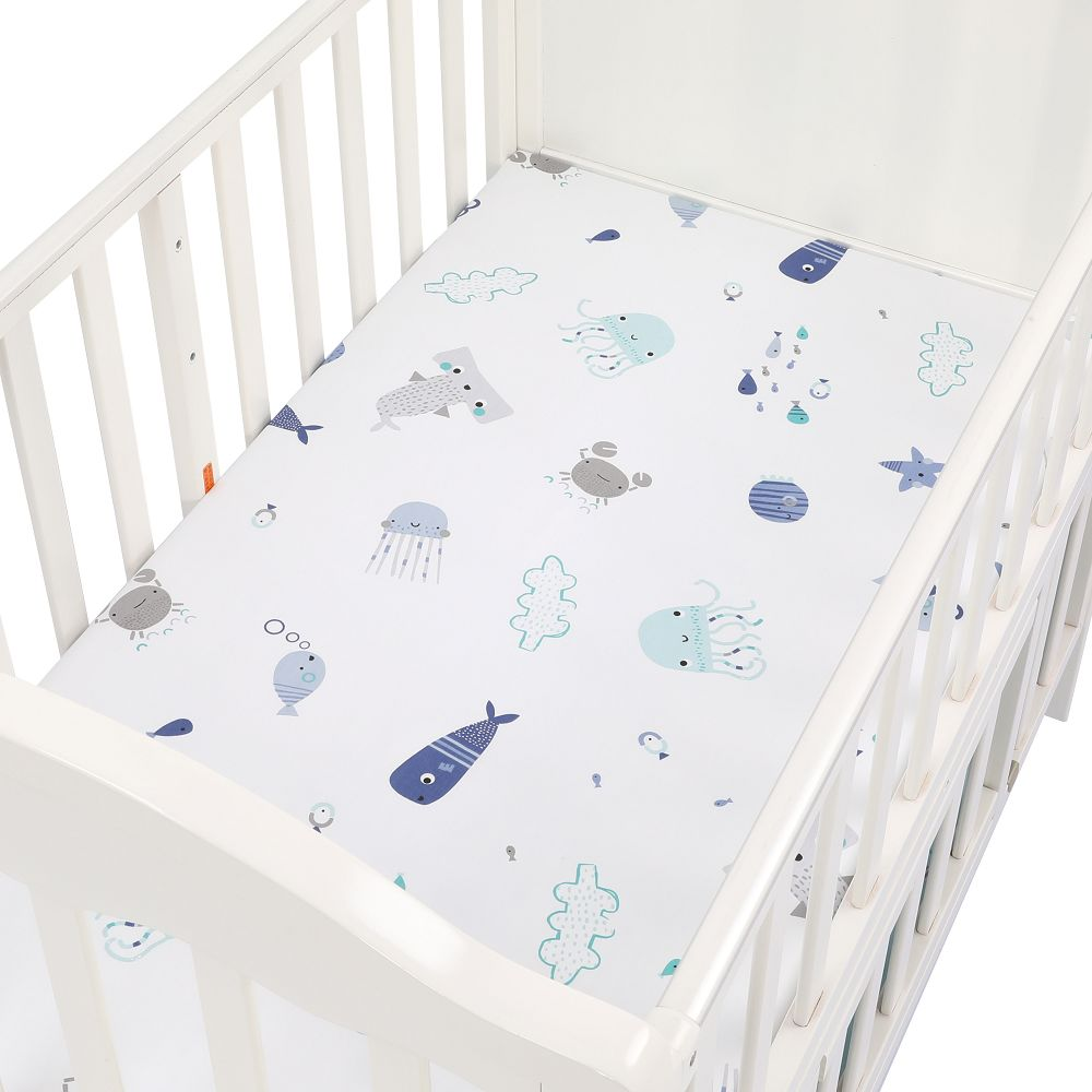100% Cotton Baby Fitted Sheet Cartoon Crib Mattress Protector Baby Bed Sheet Soft Newborn Bed Sheet Cover For Crib Size 89*44cm