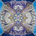 100% Шелковый Шарф Женщин Шарф Пейсли Шарф Шелковый Шарф 2017 хиджаб Горячей Платок Печати Среднего Квадратных Шелковый Шарф Wrap Леди подарок