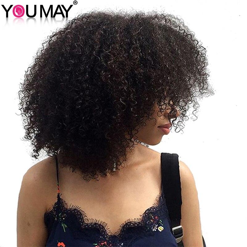 Монгольский афро кудрявый вьющиеся Химическое наращивание волос 1 шт. Человеческие волосы Weave Связки 100% Волосы Remy вы можете
