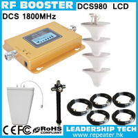 Work to 1200m2 Wholesale DCS980 GSM 1800mhz 1Watt 27dbm 75db cellular mobile/cell phone signal repeater booster amplifier