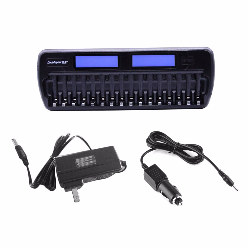все цены на Doublepow 16 Slots Battery Charger LCD Display Smart Charger Rapidly Effectively Charging For AA AAA Ni-CD/Ni-MH Battery онлайн