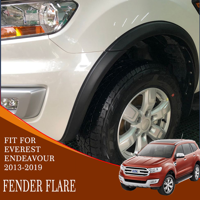 fender flare cover high quality ABS black plastic car modified accessories decoration mudguard for ford everest endeavour 2015