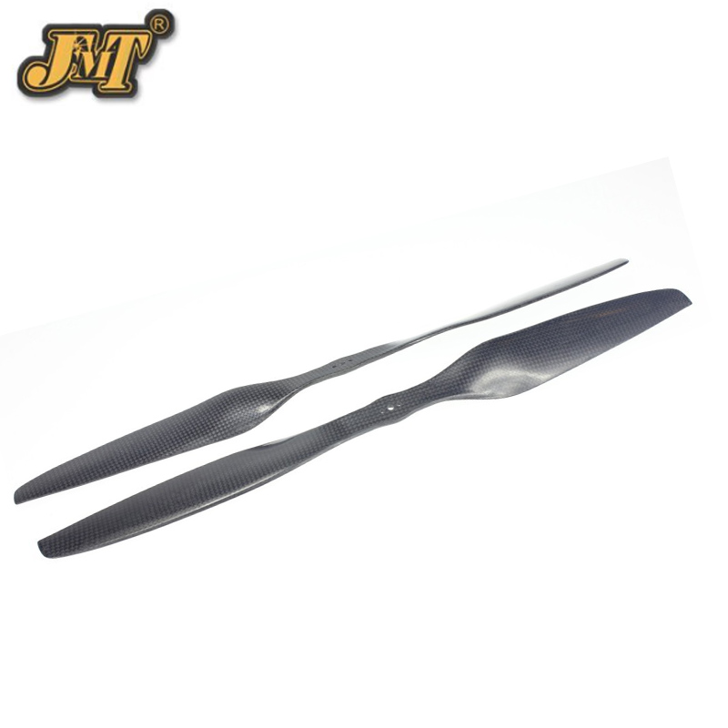 JMT 4 Pairs 18x5.5 3K Carbon Fiber Propeller CW CCW 1855 CF Props Cons 3 Holes for Large Hexacopter Octocopter Multi Rotor 10x3 8 3k carbon fiber propeller cw ccw 1038 cf props cons for dji f45