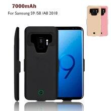 Высокое качество 7000 мАч Мощность Bank Дело Pack Резервное копирование Батарея универсальной зарядки для samsung Galaxy S9/S8/A8 2018 Батарея чехол