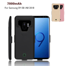 High Quality 7000mAh Power Bank Case Pack Backup Battery Charge Universal For Samsung Galaxy S9 /S8 /A8 2018 Battery Case Cover