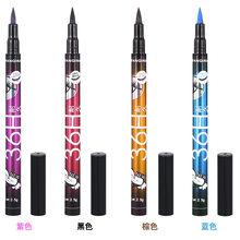 4 cores 36 h lápis delineador à prova dwaterproof água caneta precisão de longa duração líquido olho forro suave compõem ferramentas