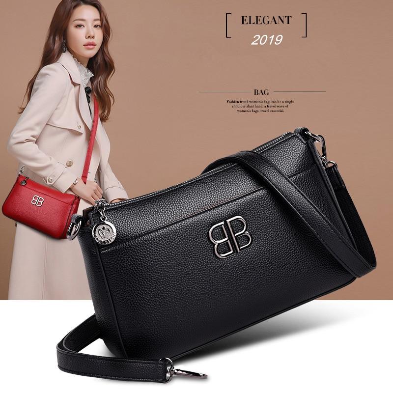 Image 3 - 2019 New Fashion Soft Leather Elegant Women Bags Handbags Genuine  Leather Small Fashion Crossbody Bags for Women Shoulder BagShoulder  Bags