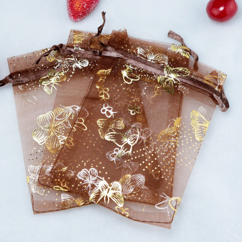 Wholesale Small Butterfly Organza Bag 1000pcs lot 7x9cm Fit For Wedding Party Gift Candy Beads Jewelry