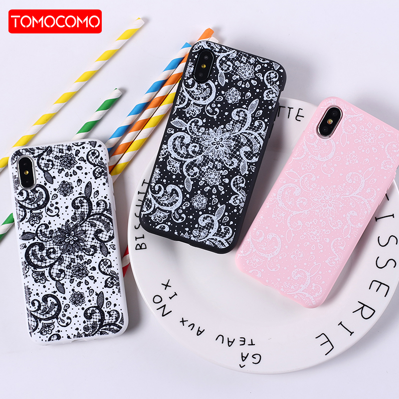 741d7bb86f5 Lace Floral Paisley Henna Mandala Tribal Soft Silicon Printed Phone Case  For iPhone