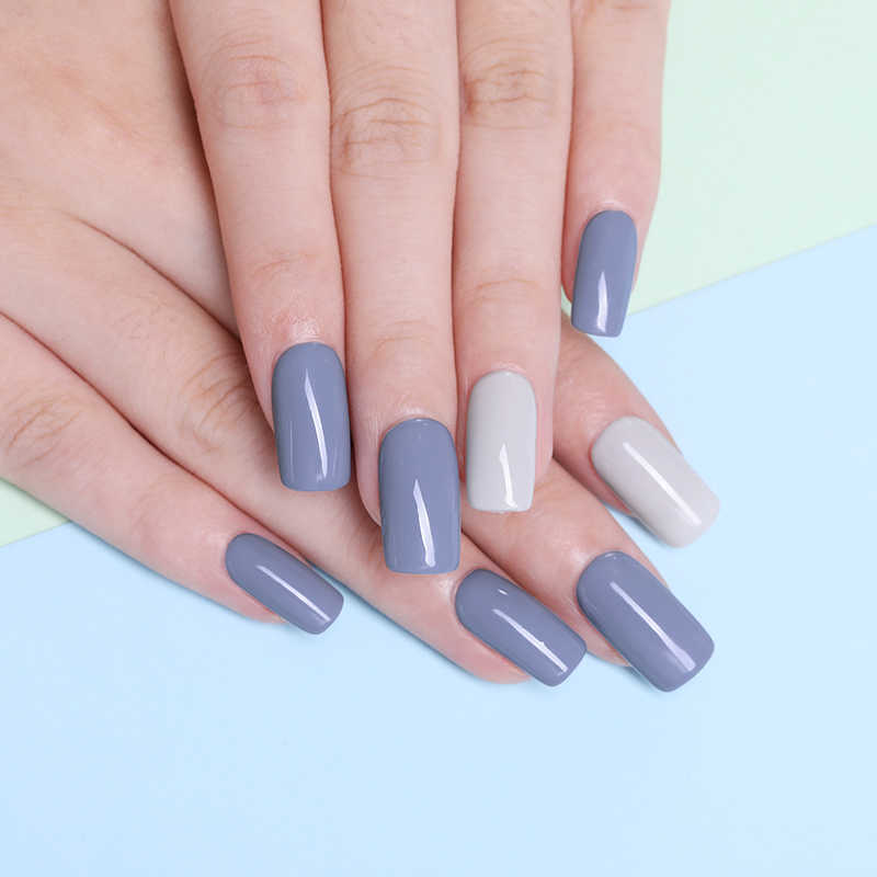 Lilymignon ongle Art Gel 5ML pur ongle couleur UV vernis à ongles Gel LED longue durée Macaron tremper vernis Gel laque Nail Art bricolage