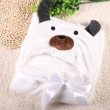 Hooded Animal Baby Blanket Newborn / Baby Bath Towel /baby Bathrobe Cloak Lovely Soft Sleeping 22designs цены