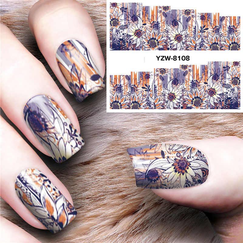 1 лист модный дизайн ногтей переводные наклейки украшение для ногтей DIY для ногтей 8099-8108