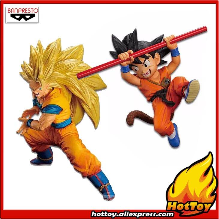 Figurine originale Banpresto fils Gokou fès!! vol.4-fils d'enfance Goku + Gokou Super Saiyan 3 de