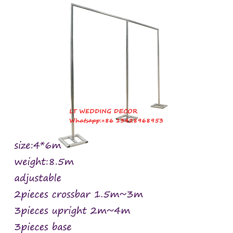 6m*4m wedding zincplated metal wedding backdrop stand/drap stand/piping frame
