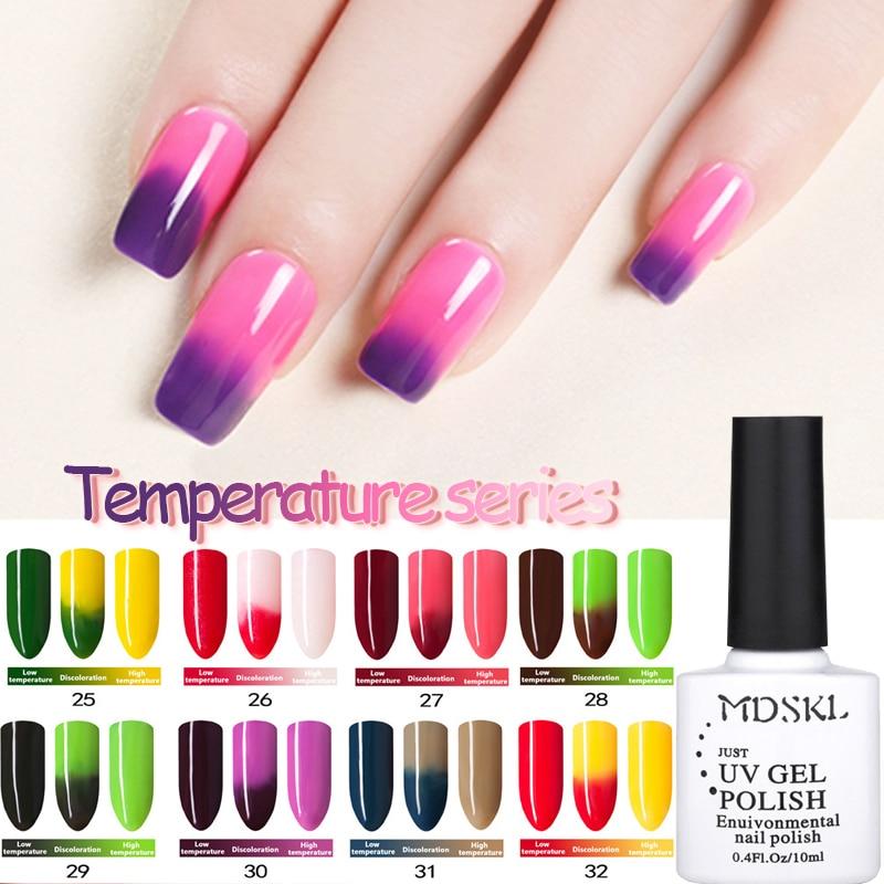 Mudança de Temperatura MDSKL 10 ML Camaleão Mudança de Cor UV Unhas de Gel Polonês de Longa Duração UV Gel Verniz Para Unhas Escolher 72 Cores