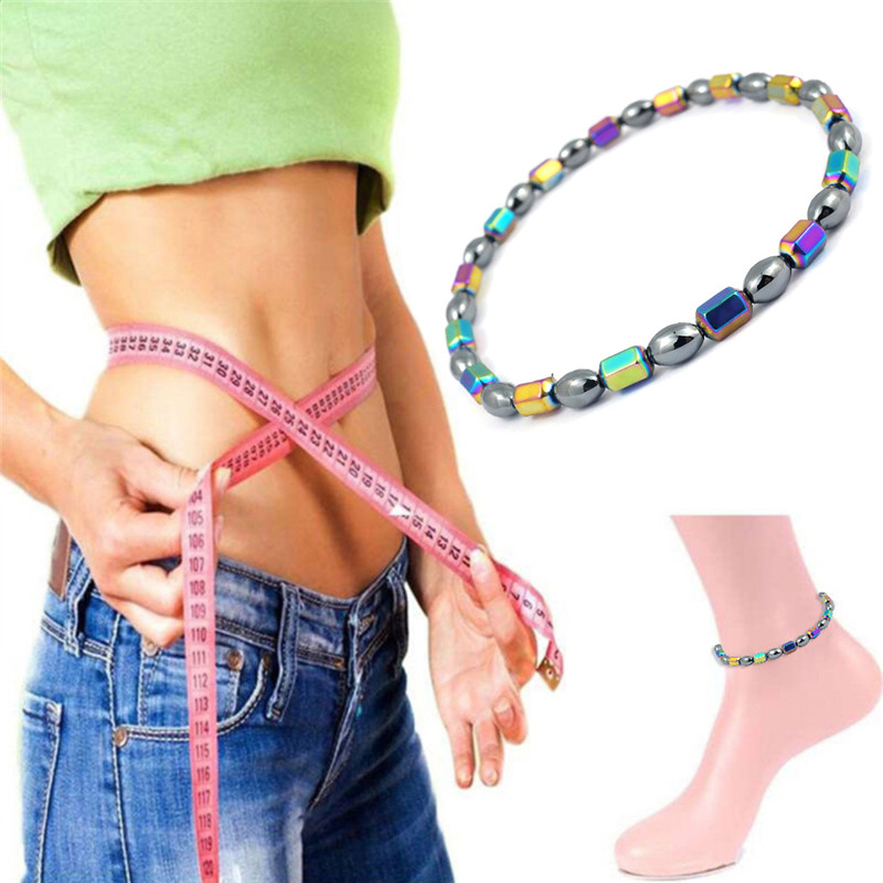 Weight Loss Magnet Bracelet Anklet Colorful Stone Magnetic Therapy Reduce Weight Loss Product Slimming Health Care Jewelry