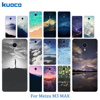 Soft Silicone Phone Cases For Meilan Max Meizu M3 MAX Fashion 6.0 inch Shell Covers Skin Ultra Thin Landscape Pattern Coque