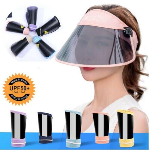 Summer UV Protection Cover Flexible Visor Sun Plain Hat Sports Golf Tennis Beach New Adjustable Women Adult Sunscreen Cap