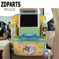 ZDPARTS Cartoon Car Back Seat Luggage Net Organizer Covers For Toyota Corolla Avensis Rav4 C Hr