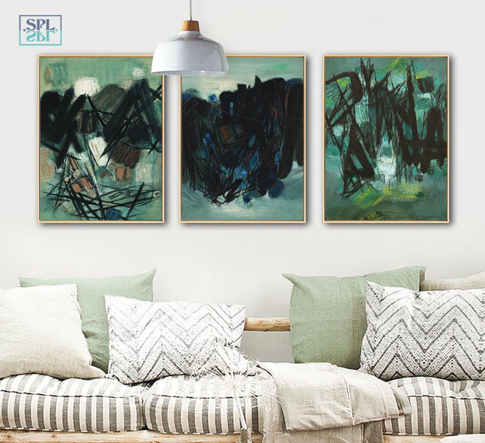 SPLSPL Nordic Style Creative Abstract Decorative Painting Canvas Painting Art Print Poster Picture Wall Paintings Home Decor